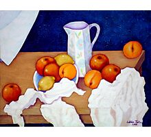Still life in honor of Cezanne Photographic Print