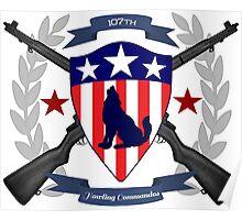 Howling Commandos Insignia (Color) Poster