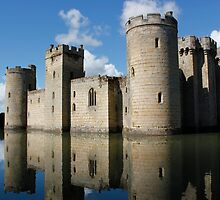 The Medieval Bodiam Castle in England by John Wallace