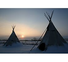 PLAINS CREE TIPI Photographic Print
