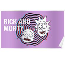 Rick And Morty 3D Poster