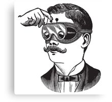 Anitique Vintage Gentleman with Goggles and Moustache Canvas Print
