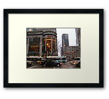 In a flash Framed Print
