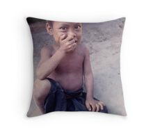 Hilltribe boy, Thailand. Throw Pillow
