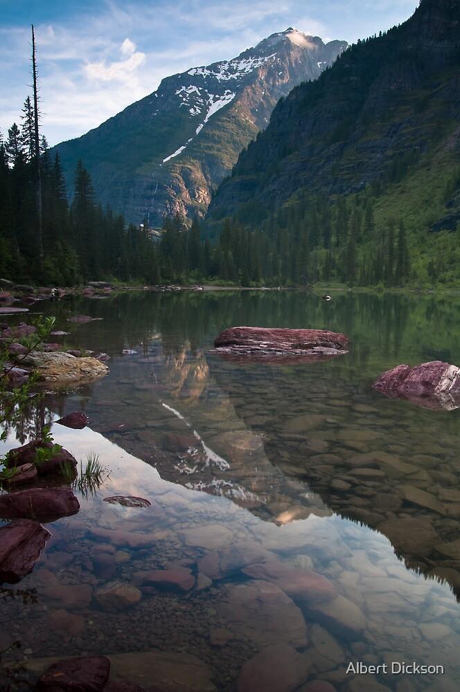 Avalanche Lake, Montana by Albert Dickson
