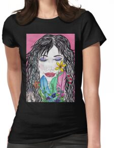 Kyobe awake dreaming face  Womens Fitted T-Shirt