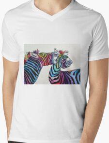Funny zebras Mens V-Neck T-Shirt