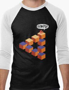 Q*bert's Conundrum Men's Baseball ¾ T-Shirt