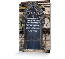 Comical Headstones (2) Greeting Card