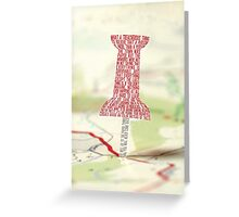Paper Towns Typography Greeting Card