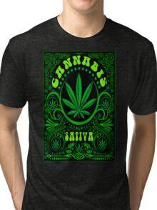 CANNABIS SATIVA Tri-blend T-Shirt