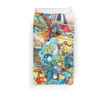 Unlimited Curiosity - Watercolor + Pen Art Duvet Cover