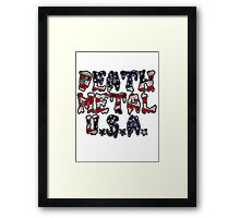 DEATH METAL U.S.A. Framed Print