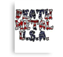 DEATH METAL U.S.A. Canvas Print