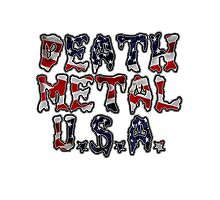 DEATH METAL U.S.A. Photographic Print