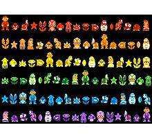 Rainbow Super Mario - Horizontal Version 2 Photographic Print