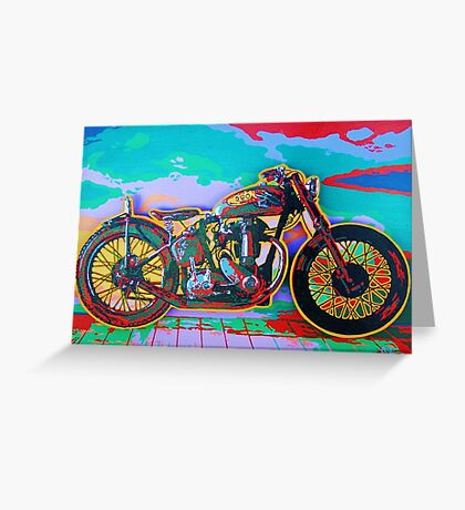 BSA Motorcycle Abstract Greeting Card