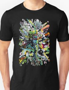 Tubes of Wonder - Abstract Watercolor + Pen Illustration T-Shirt
