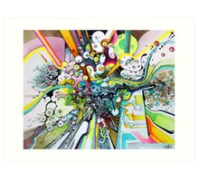 Tubes of Wonder - Abstract Watercolor + Pen Illustration Art Print