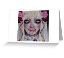Mina the Vampire Bride Greeting Card