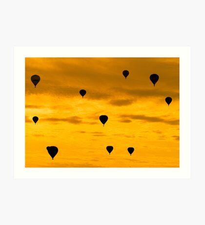 Balloon Sunset Art Print