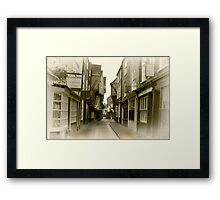 Shambles - York. Framed Print