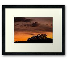 Bush Sunset Framed Print