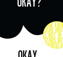 The Fault in Our Stars Typography Sticker