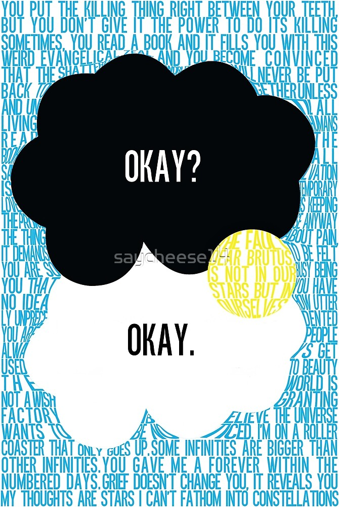 The Fault in Our Stars Typography by saycheese14