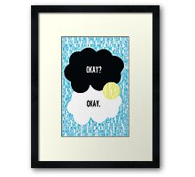 The Fault in Our Stars Typography Framed Print