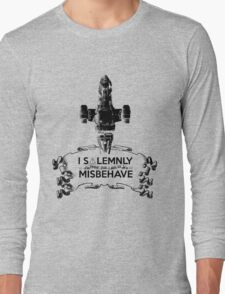 I Solemnly Swear That I Aim To Misbehave...Again Long Sleeve T-Shirt