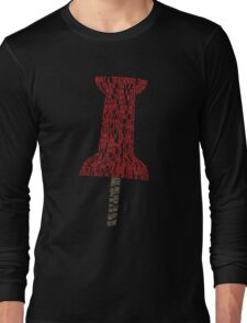 Paper Towns Typography - SFW Long Sleeve T-Shirt