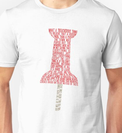 Paper Towns Typography - SFW Unisex T-Shirt