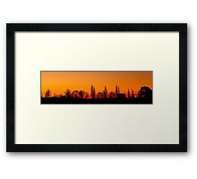 Sunset Panorama 1 Framed Print