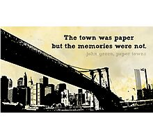 A Town on Paper Photographic Print
