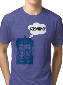 """GERONIMO!"" - 11th Doctor Tri-blend T-Shirt"