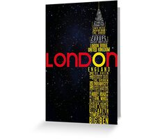 London Typography Greeting Card