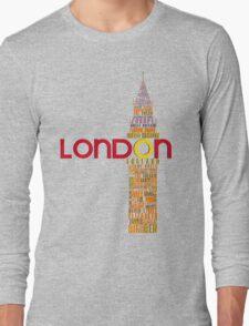 London Typography Long Sleeve T-Shirt