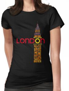 London Typography Womens Fitted T-Shirt