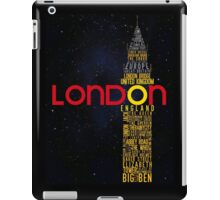 London Typography iPad Case/Skin