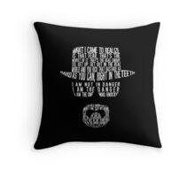Breaking Bad - Walter White/Heisenberg Typography (White Print) Throw Pillow