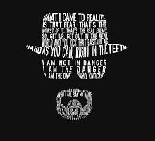 Breaking Bad - Walter White/Heisenberg Typography (White Print) Hoodie
