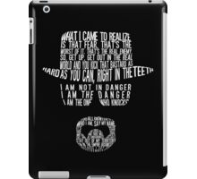 Breaking Bad - Walter White/Heisenberg Typography (White Print) iPad Case/Skin