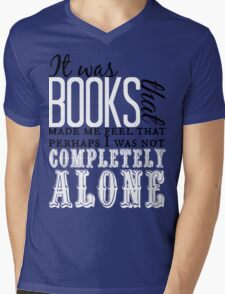 """""""It was books. . ."""" Will Quote Mens V-Neck T-Shirt"""