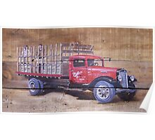 Miller High Life Delivery Truck Poster