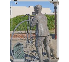 """Penny Farthing """"Time Traveller"""" Statue iPad Case/Skin"""