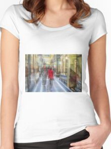Royal arcade, Melbourne Women's Fitted Scoop T-Shirt