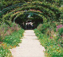 Monet's garden, Giverny, summer 1994 by BronReid
