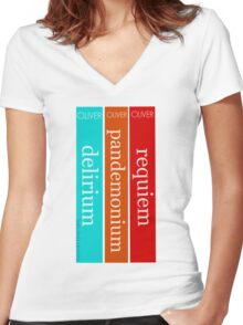 The Delirium Trilogy by Lauren Oliver Women's Fitted V-Neck T-Shirt