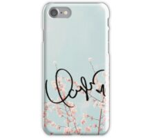 Swift's signature (flowers) iPhone Case/Skin